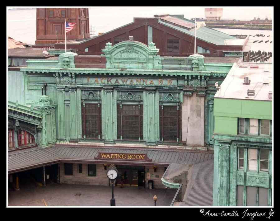 The front of the Hoboken Train Station