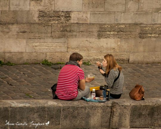 Paris Picnic, Along the walled banks of the Seine