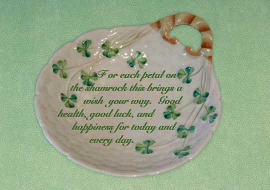 Shamrock Irish Blessing