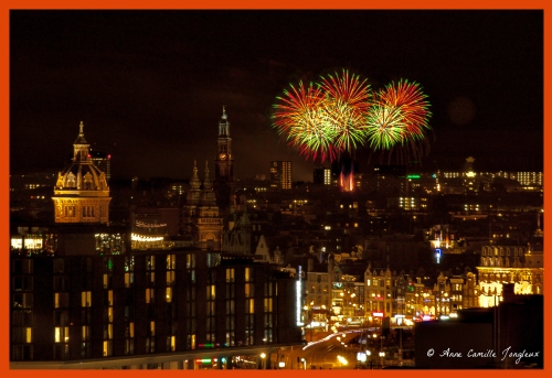 King's Day, Fireworks, Amsterdam