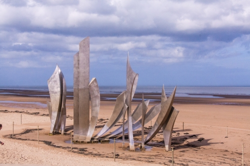 Memorial, Omaha Beach, Vierville-sur-Mer, Normandy,